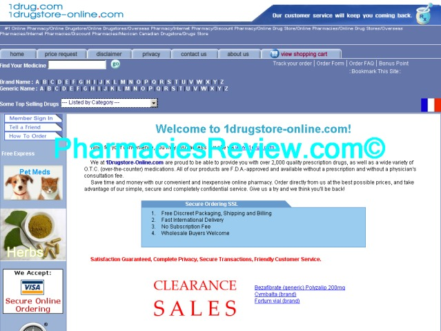 1drugstore-online.com review