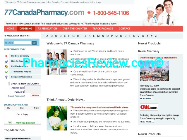Canada Pharmacy is a highly rated Canadian Pharmacy online which delivers low-priced generic and branded prescription drugs directly to your door. Canada Pharmacy saves Americans up to 80% on prescription, OTC and pet products. A % safe & certified .
