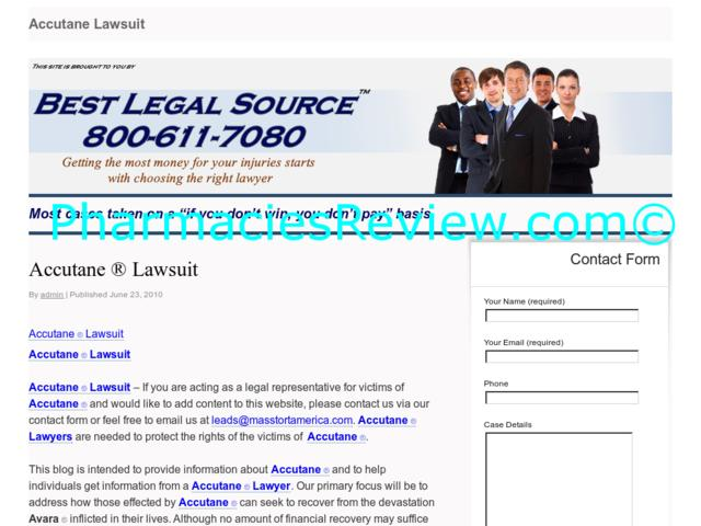 class action suit for accutane