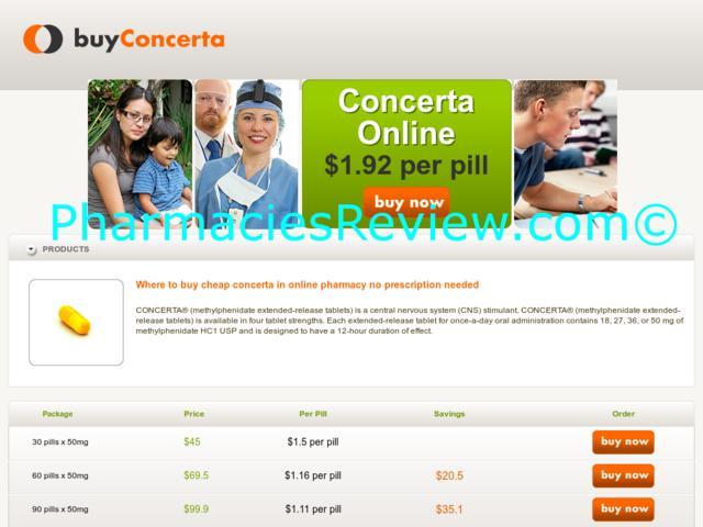 concerta price online