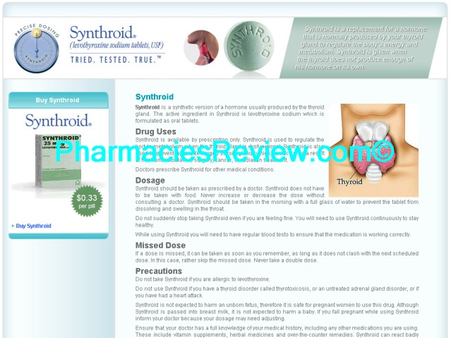 Synthroid online pharmacy