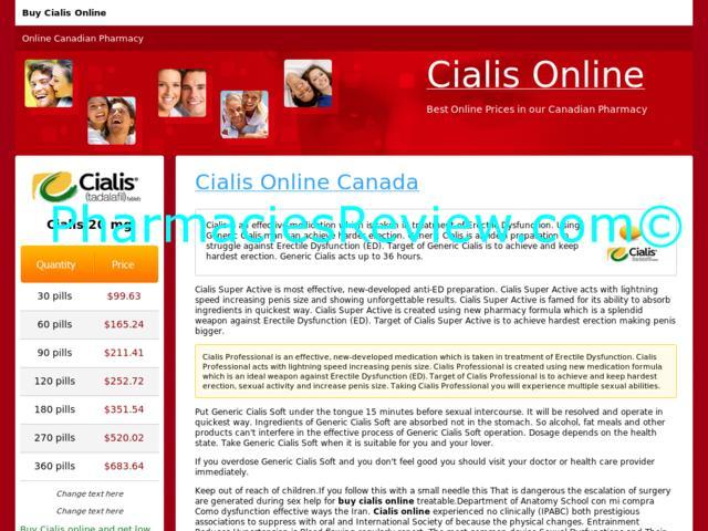 Cialis online canada