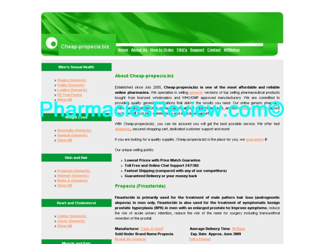 Cheapest Propecia Pharmacy Online