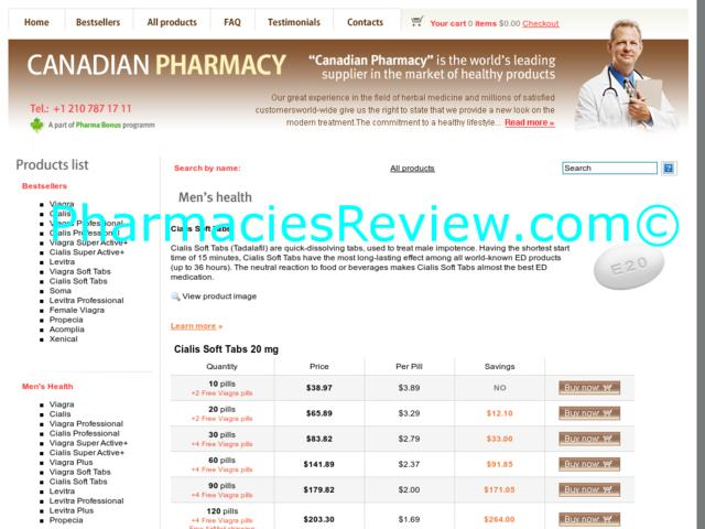 Cialis Soft Tabs Online Pharmacy