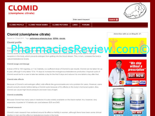 Clomid Prescriptions Buy Online