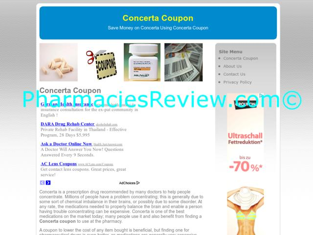 Concerta discount coupons