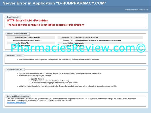 d-hubpharmacy.com review