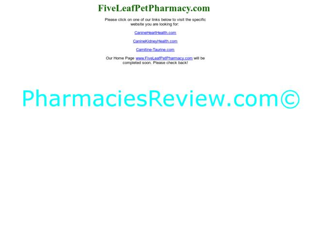 fiveleafpetpharmacy.com review