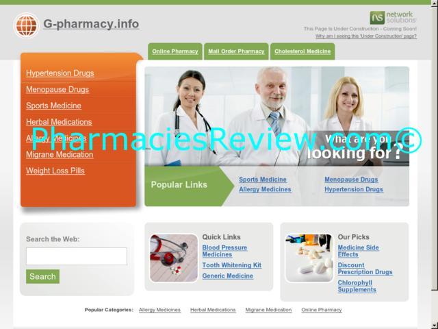 g-pharmacy.info review