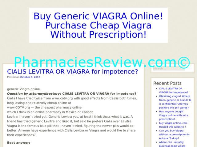 Generic Viagra Review
