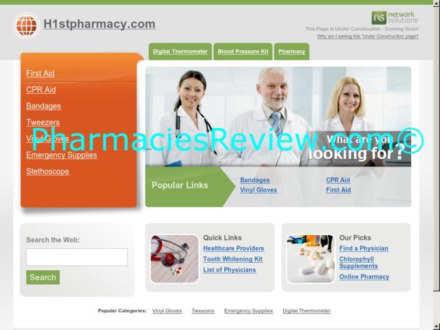 h1stpharmacy.com review