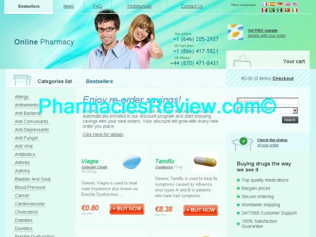 Online non prescription pharmacy reviews