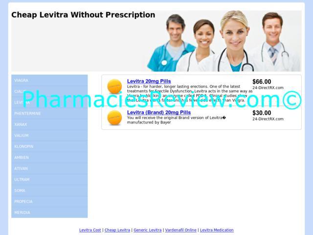 Levitra Online No Prescription