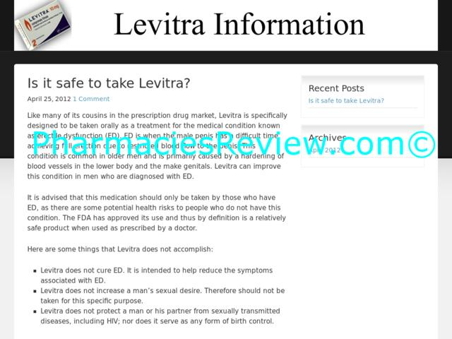 Information About Levitra