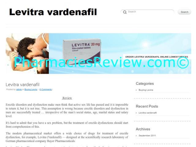 Levitra Rectal