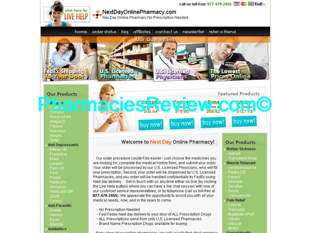 Next day online pharmacy