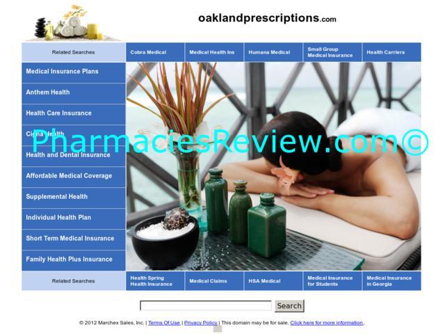 oaklandprescriptions.com review