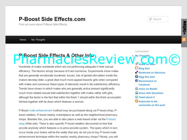 p-boostsideeffects.com review
