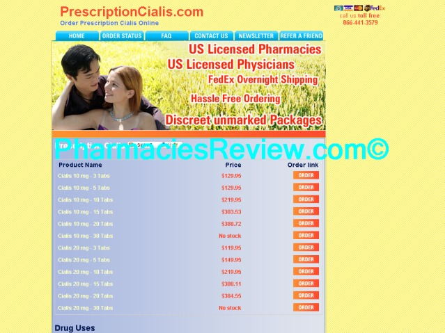 Web Prescription Cialis