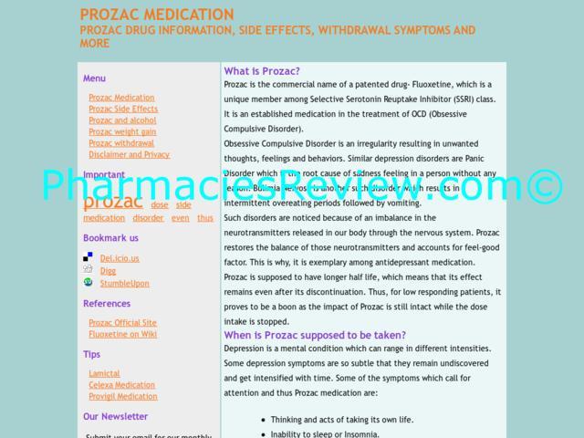 Discontinuation Of Prozac
