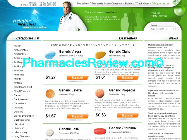 ReliableMedications review