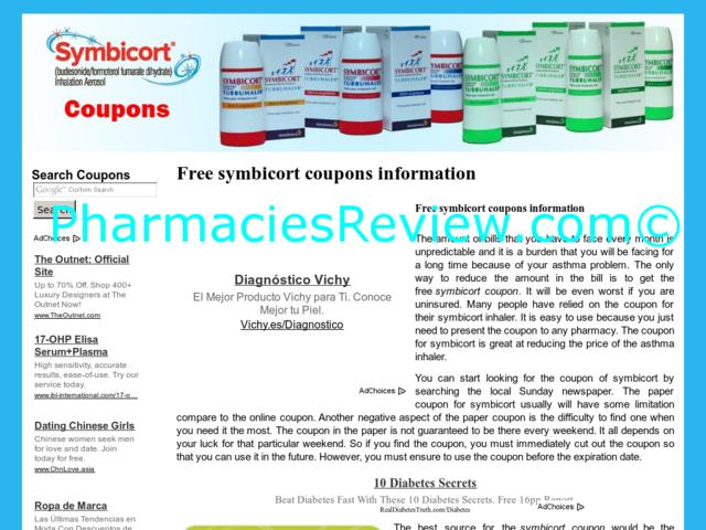 Symbicort coupon free