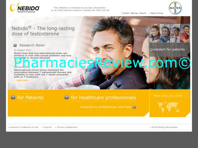 Testosterone-undecanoate.info Review All Online Pharmacies Reviews And Ratings Online