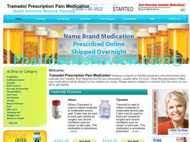 tramadol medication info
