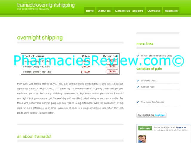 Tramadol online pharmacy overnight shipping