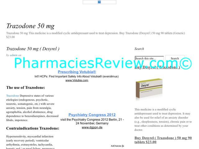Desyrel Side Effects Forum