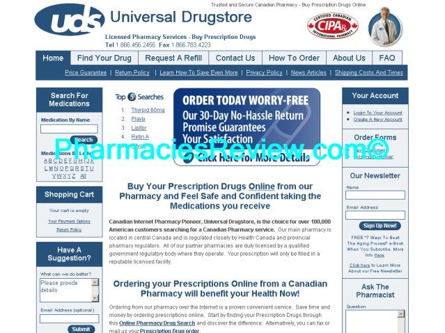 universaldrugstore.com review