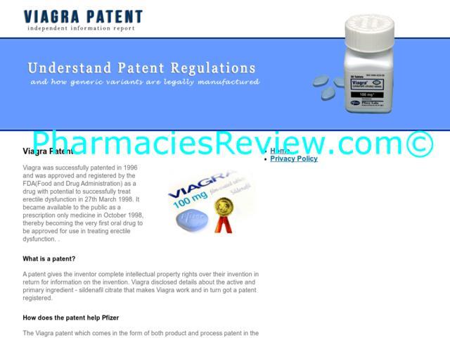 Viagra Us Patent Date