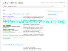 gabapentinsideeffects.com review