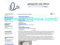 gabapentinsideeffects.org review