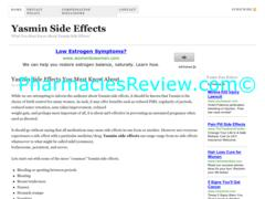 yasminsideeffects.us review